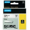 DYMO Industrial Rhino Label Tape Vinyl 12mm Black on White 18444 S0718600   Developed for heavy duty environments   Fusion Office