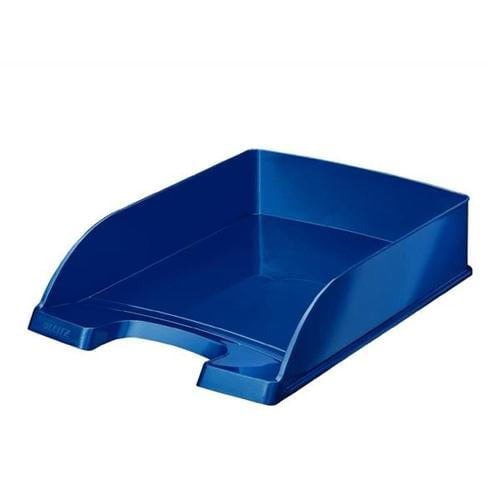 Leitz WOW Letter Tray Metallic Blue 52263036 | The toughest letter tray in its class, designed for strength and durability | Fusion Office UK