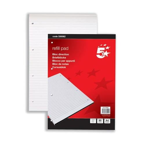 Refill Pads Ruled A4 80 Sheets / 160 pages [Pack 10] | General Office Refill Pads | Fast Delivery | Fusion Office
