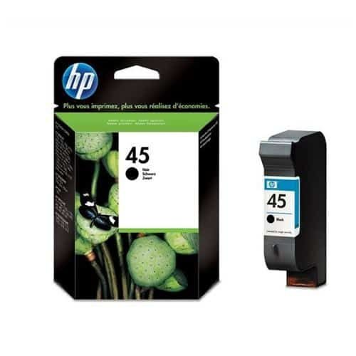 HP 45 Black Ink Cartridge 51645AE   Original Authentic HP - Hewlett Packard   Great Everyday Pricing   Fusion Office