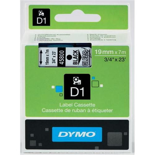 Dymo D1 Tape for Electronic Labelmakers 19mmx7m Black on Clear Ref 45800 S0720820   Authentic DYMO   Fusion Office