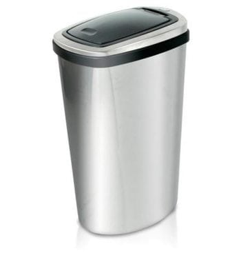 Addis Press Top Stainless Steel Bin with Inner Liner 40 Litre - Fusion Office