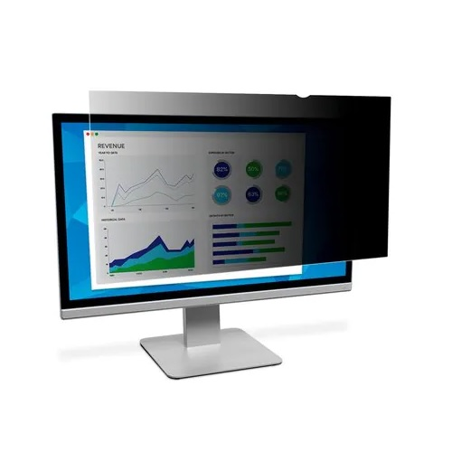 3M PF220W1B Black Privacy Screen Filter 22inch Widescreen 16:10 | Matte surface helps reduce glare and hide fingerprints | Fusion Office UK