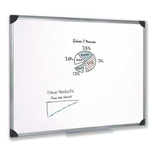 Magnetic Whiteboard 1200x900 Aluminium Trim | Lightweight magnetic lacquered steel surface | Fusion Office