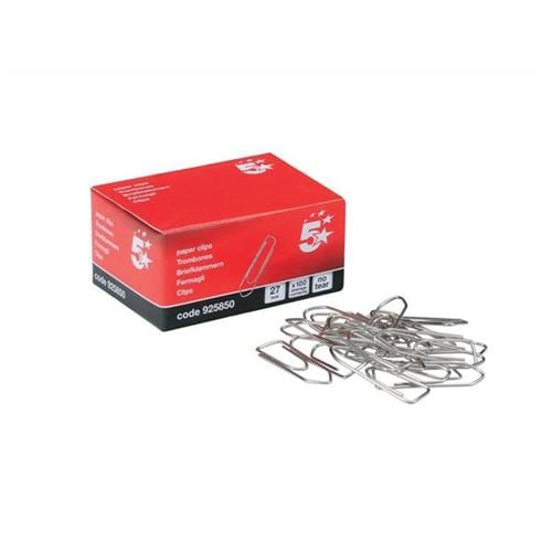 Large Paperclips No Tear 27mm [Pack 10x100] | Ideal for holding documents without damaging the pages | Fusion Office