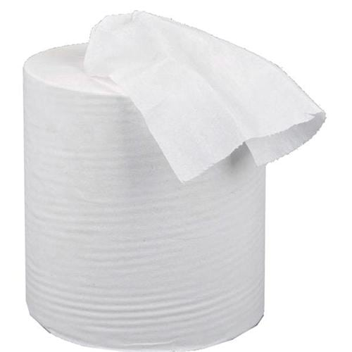 Mini Centrefeed Hand Towels White 1 Ply [Pack 12] | Strong & absorbent | Food contact approved | Fusion Office