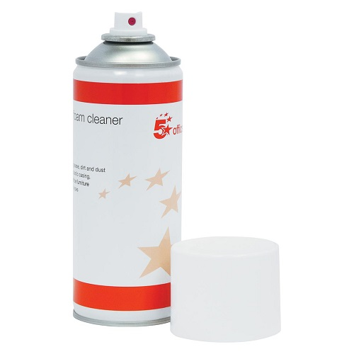 Anti static Foam Cleaner General Purpose 400ml Can - Removes ingrained grease dirt and dust - Fusion Office