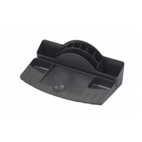 Avery 88MLBLK Original Desk Tidy Black | Multi-compartment tidy with Label Pad Holder | Different compartment sizes | Fusion Office UK