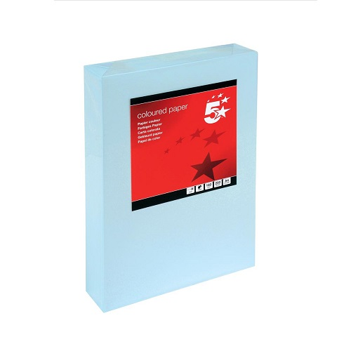 Card A4 Light Blue 160gsm (250 Sheets) Ream   Colour code documents for ease of filing & identification   laser & Inkjet   Fusion Office UK