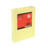 Card A4 Light Yellow 160gsm (250 Sheets) Ream | Colour code documents for ease of filing & identification | laser & Inkjet | Fusion Office UK