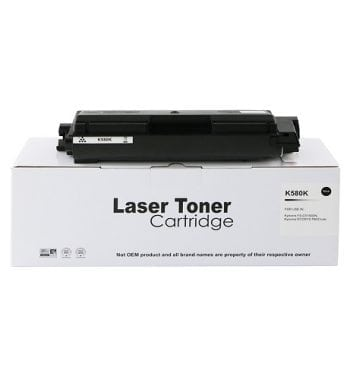 Compatible Kyocera TK-580K TK580K Black Toner - Fusion Office