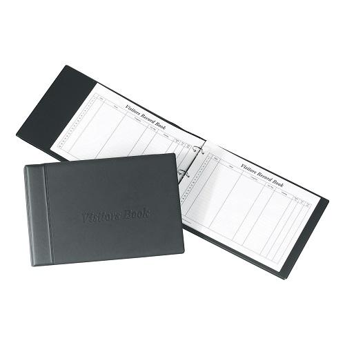 Concord CD14 Visitors Book 230x335mm Black 85710/CD14 | Quality black loose-leaf padded binder with quarter bound spine | Fusion Office UK
