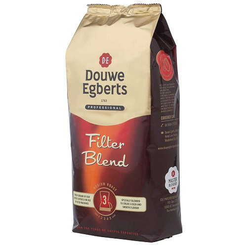 Douwe Egberts Roast & Ground Filter Coffee 1kg | Roasted and ground for use in filter coffee machines | Fusion Office