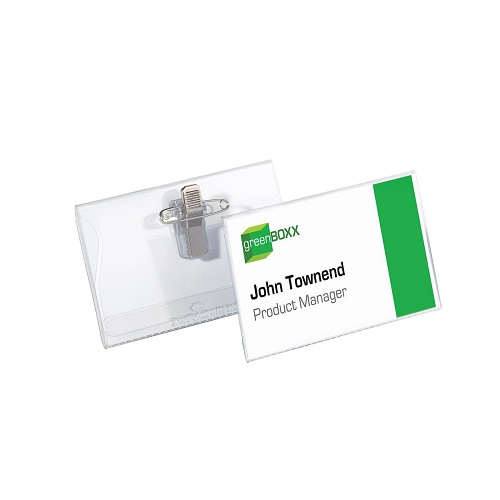 Durable Name Badges Combi Clip 75x40mm 815719 [Pack 50] | Ideal for large events such as conferences and exhibitions | Fusion Office UK