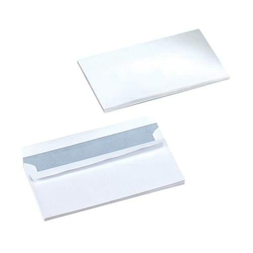 Wallet Envelopes DL White Mediumweight Plain Self Seal 90gsm Pack 1000 | Ideal for DL 210x99mm documents | Fusion Office
