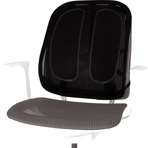 Fellowes Office Suites Mesh Back Support 9191301 | Mesh back support gently moulds to your body's contours | Fusion Office
