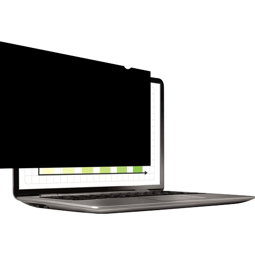 """Fellowes PrivaScreen 14.0"""" Widescreen 16:9 Privacy Filter 4812001   Darkens screen image when viewed from 30˚ side angle   Fusion Office"""