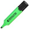 Highlighters Green Chisel Tip [Pack 10]   Traditional Square Highlighters   For all paper types   Non-Fading   Non-Toxic   Fusion Office UK