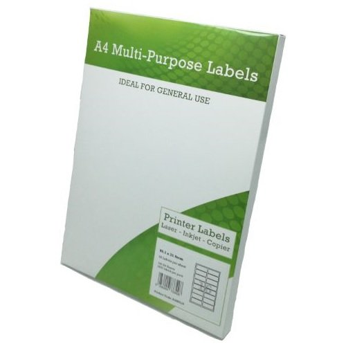 Multi Purpose Labels 16 per Page 99.1x34mm White [100 Sheets] | Fusion Office