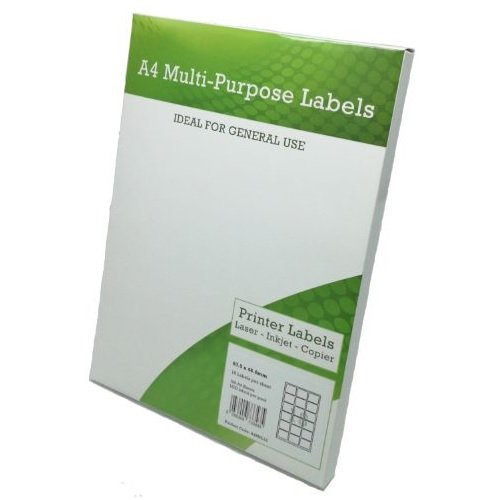 Multi Purpose Labels 18 per Page 63.5x46.6mm White [100 Sheets] | Fusion Office