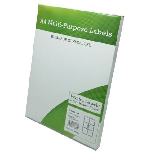 Multi Purpose Labels 6 per Page 99x93mm White [100 Sheets] | Fusion Office