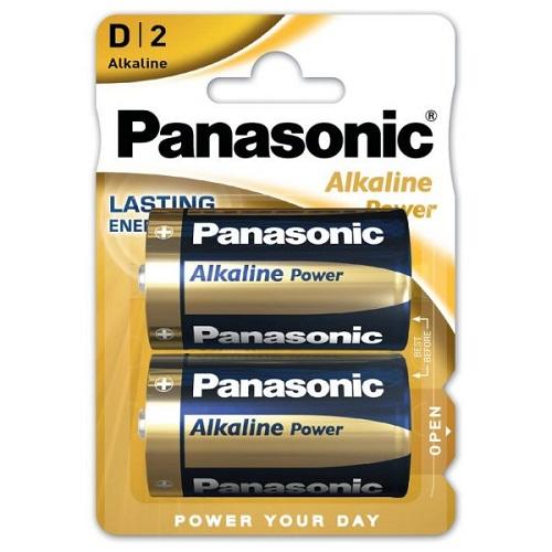 Panasonic D Batteries Bronze Alkaline Power 1.5v LR20 MN1300 [Pack 2] LR20APB   Everyday Battery   Fusion Office