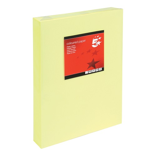 Paper A3 Light Yellow 80gsm (500 Sheets) Ream   Colour code documents for ease of filing & identification   laser & Inkjet   Fusion Office UK