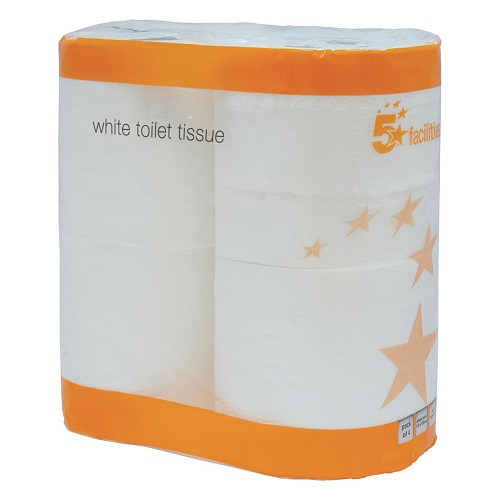 Toilet Rolls 320 Sheets White Pack 36 - A value for money white toilet tissue - perfect for any business - Fusion Office