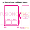 Double Integrated Labels D1/A Paper A4 [1000]   2 removable self adhesive double labels allowing for return   FPS-5 Labels   Fusion Office UK