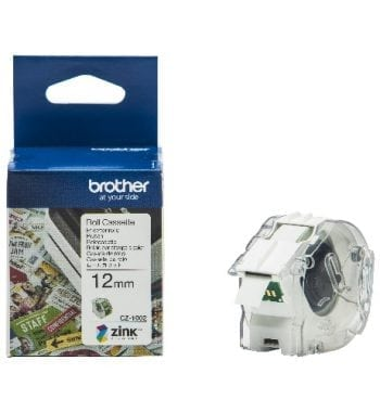 Brother CZ-1002 Continuous Roll 12mm x 5m Tape and Box - Fusion Office