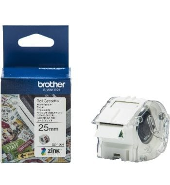 Brother CZ-1004 Continuous Roll 25mm x 5m Tape and Box - Fusion Office