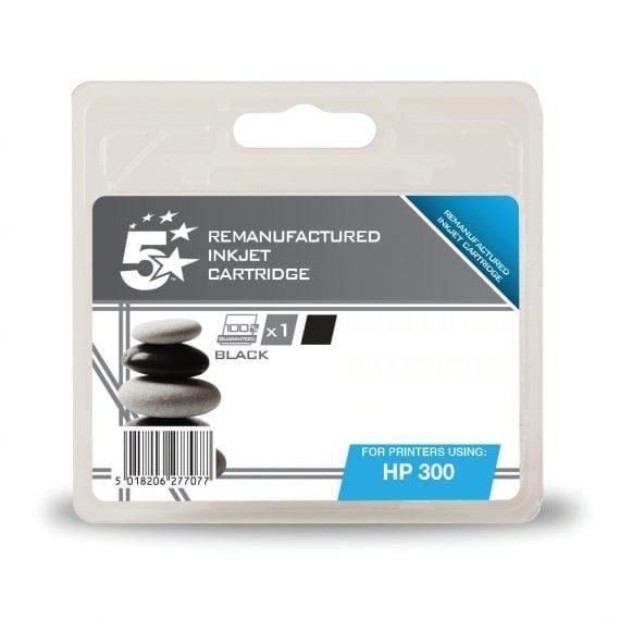 Fusion Compatible Inkjet Cartridge Black Ref Hewlett Packard [HP] 300 CC640EE