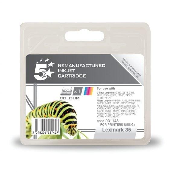 Fusion Compatible Inkjet Cartridge Colour Ref Lexmark 35 18C0035E