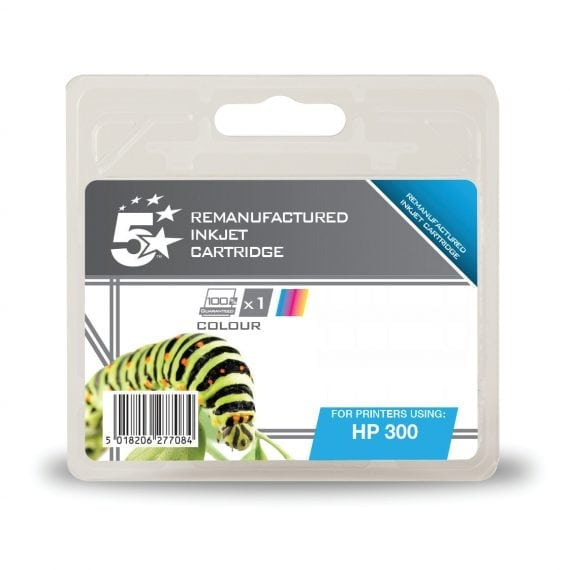 Fusion Compatible Inkjet Cartridge Tri Colour Ref Hewlett Packard [HP] 300 CC643EE