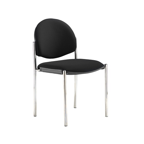 Coda multi purpose chair No arms Black fabric DAMS COD100H-BLK | Stackable | Upholstered seat & back | Fusion Office