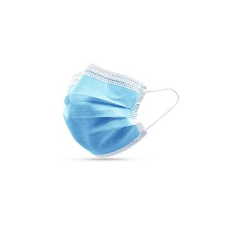 Disposable Face Masks Non Woven 3 Ply [Pack 50] | Non Medical - offices, industry, commuting & public areas | Fusion Office