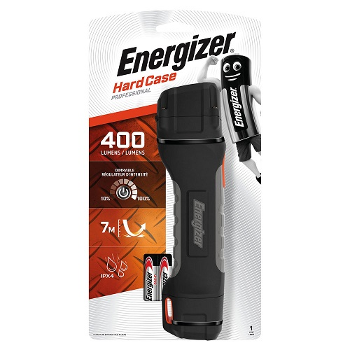 Energizer Hardcase Pro Torch (4xAA) 630060 | Hard waterproof cover with an ergonomic non-slip grip | Fusion Office UK