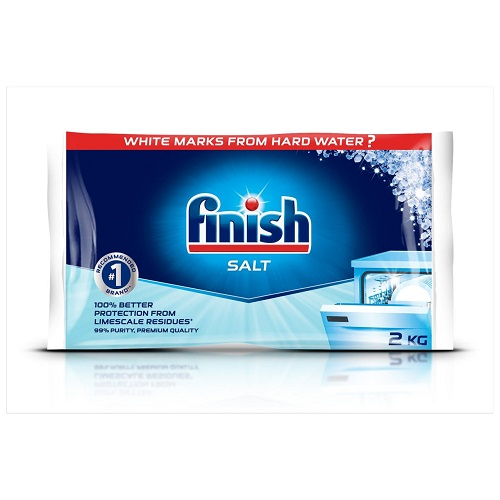 Finish Dishwasher Salt 2kg   Effectively softens your water   Boosts cleaning performance of your detergent   Fusion Office