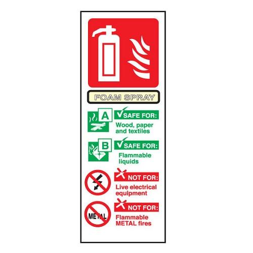 Fire Extinguisher Sign Foam Semi-Rigid PVC   Safety sign for foam fire extinguishers   Fusion Office UK