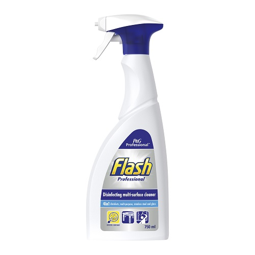 Flash Disinfectant Multi Surface Spray 750ml | Disinfects to disinfection standard EN 13697 | Leaving a fresh scent | Fusion Office