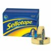 Sellotape Original Golden Tape 24mmx66m Roll Large 1443306 [Pack 6]   Easy to tear and designed to be extra sticky   Fusion Office UK