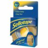 Sellotape Original Golden Tape 18mmx25m Roll Small 1443169 [Pack 8] | Easy to tear and designed to be extra sticky | Fusion Office UK