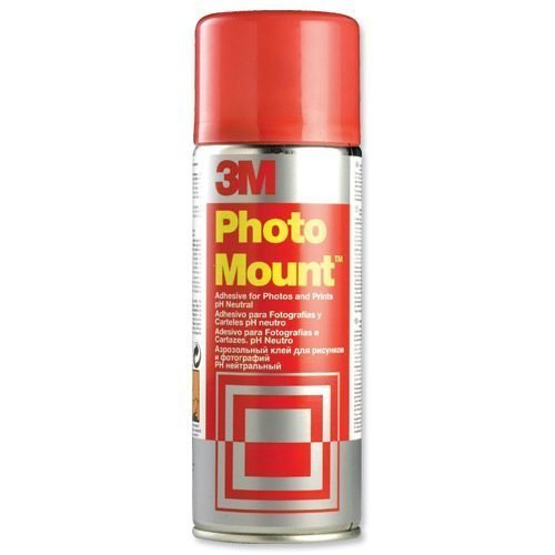 3M PhotoMount 400ml Adhesive Spray Can PMOUNT | Developed for mounting photos quickly, easily and permanently | Fusion Office UK