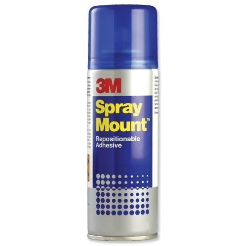 3M SprayMount 200ml Adhesive Spray Can SM200   Strong adhesive bond   Permanent when dry   Controlled spray pattern   Fusion Office UK