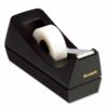 3M C38 Scotch Magic Tape Black Desktop Dispenser | Weighted tape dispenser for easy, one-handed unrolling & cutting | Fusion Office UK