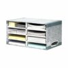 Bankers Box System Desktop Sorter Grey 08750 [Pack 5] | Eight compartments for easy organisation and identification | Fusion Office UK