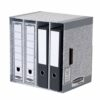Bankers Box System File Store Grey 01840 [Pack 5]   Versatile unit that can be used horizontal or vertically   Fusion Office UK