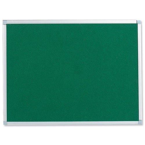 Felt Noticeboard W900x600mm Green Aluminium Trim | Wall fixing kit included | Felt back noticeboard | Fusion Office
