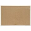 Pine Frame Noticeboard 600x400mm   Wall fixing kit included   Pine frame   Resilient cork pinning   Fusion Office