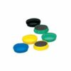 Magnets 25mm Assorted Colours [Pack 10]   Will easily hold notes, messages, or notices firmly to magnetic surfaces   Fusion Office